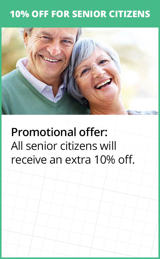 Extra 10% OFF for all Senior Citizens
